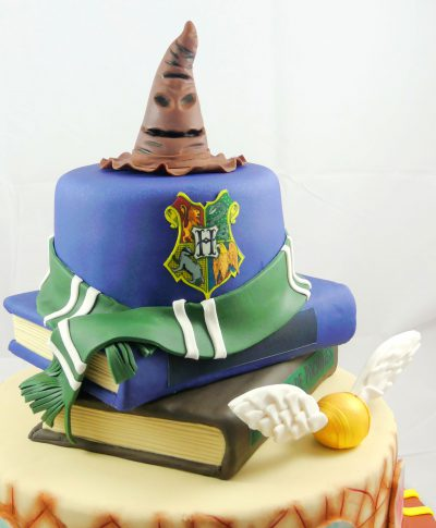Tarta decortada con tematica Harry potter