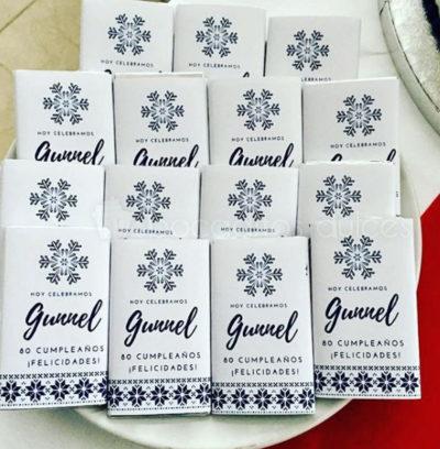 chocolatinas individuales personalizadas con logo y mensaje