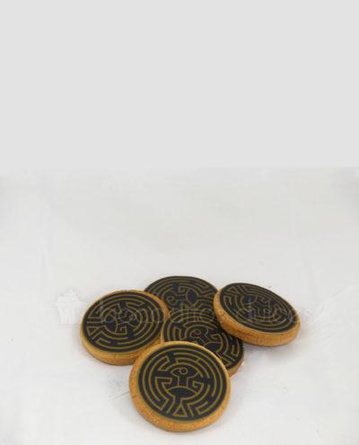 galletas decoradas con logo en papel de azúcar