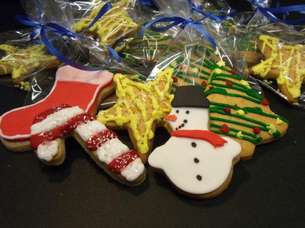 galletas decoradas con mitovs navideños variados