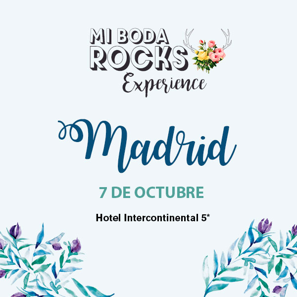 Cartel Mi Boda Rocks Experience Madrid