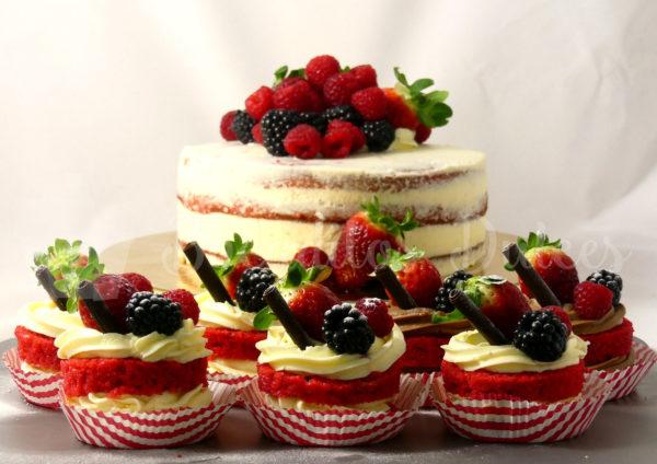 comprar tarta semidesnuda y minitartas red velvet