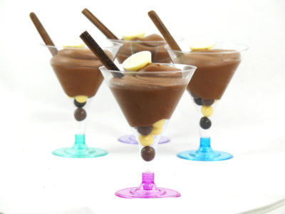 copas con mousse de chocolate