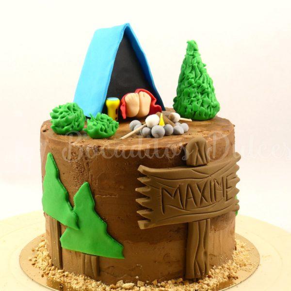 tarta para fiesta camping