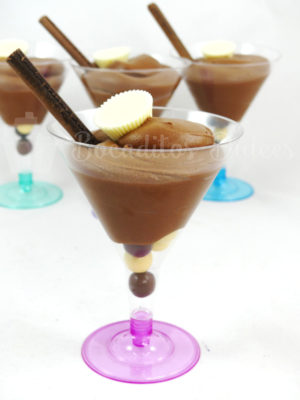 copas con mousse de chocolate