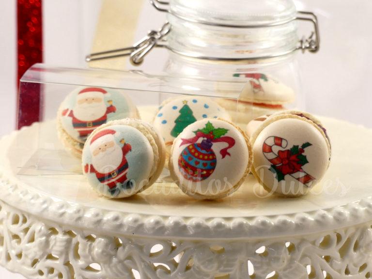 macarons con dibujos navideños