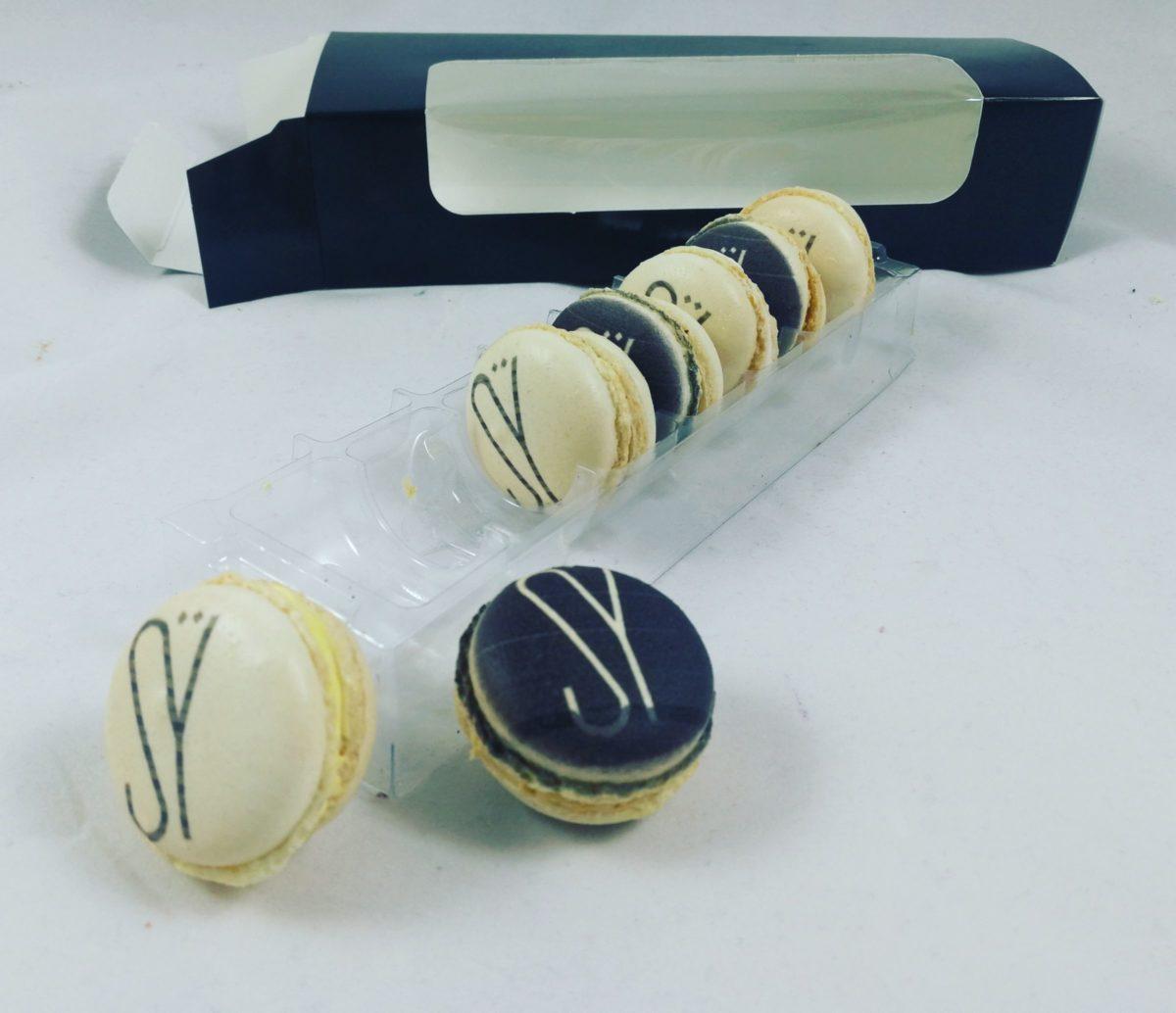macarons personalizados con logo