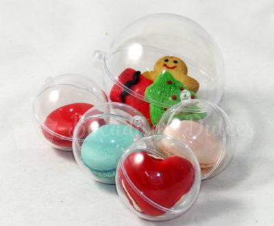 macarons y minigalletas en bolitas transparentes para regalar
