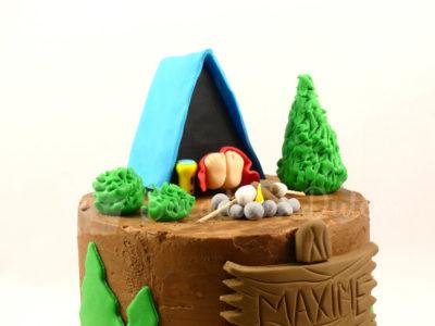 tarta infantil temática camping