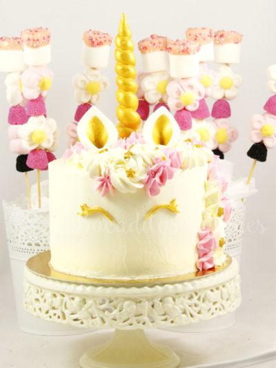 tarta unicornio sin fondant
