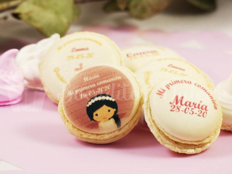 macarons personalizados modelo niña