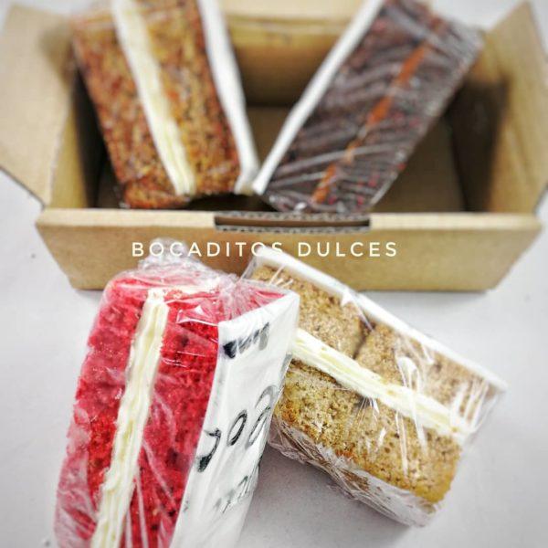 pack con porciones de tarta personalizables
