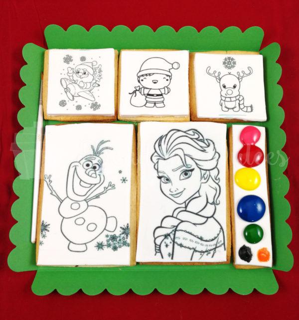 caja de galletas para colorear