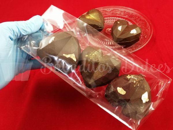 corazón de chocolate para hacer chocolate caliente