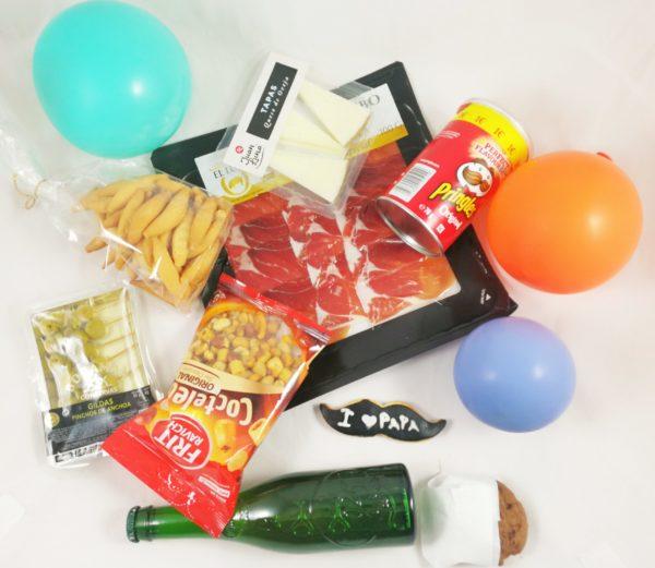 caja aperitivo con dulces y salados