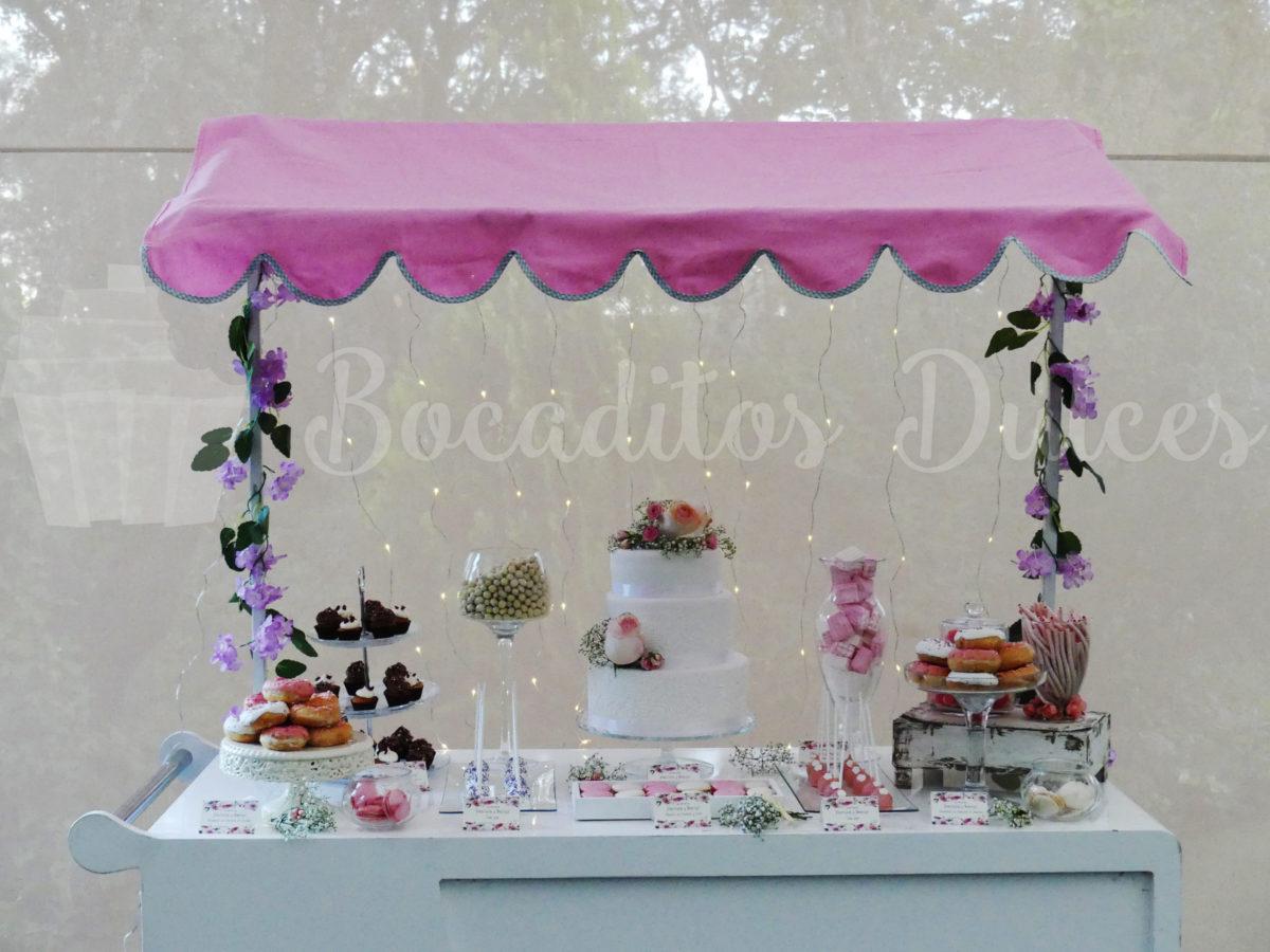 mesa dulce clásica en carrito